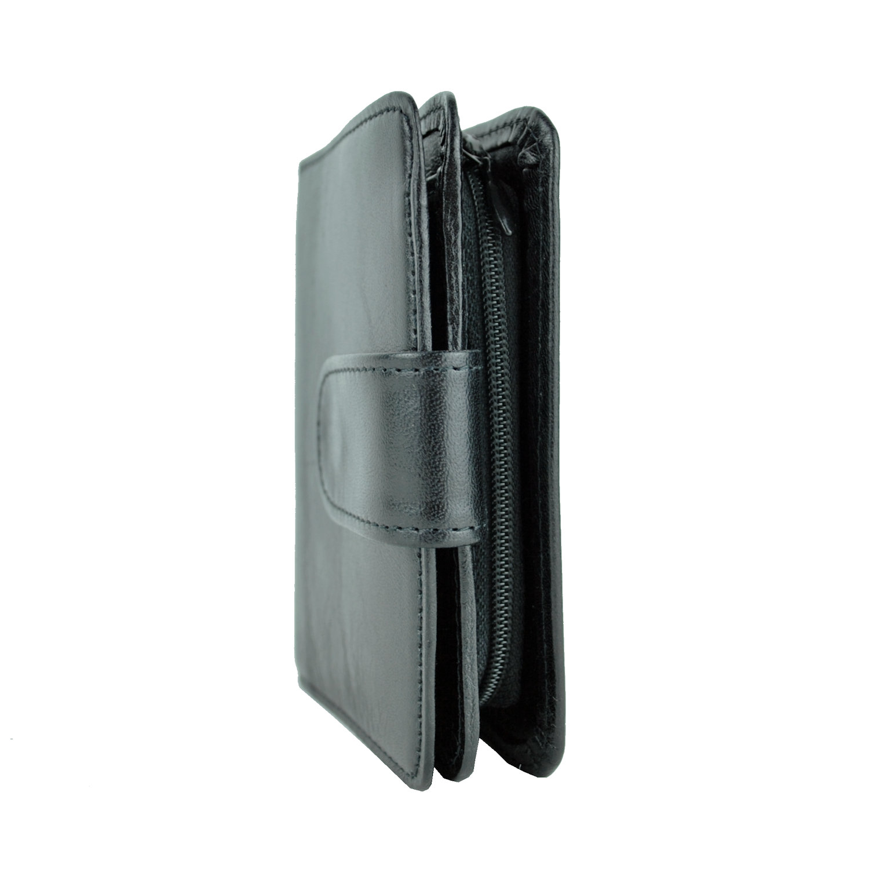 Dámska malá praktická kožená peňaženka č.8504 v čiernej farbe 88726abb81b