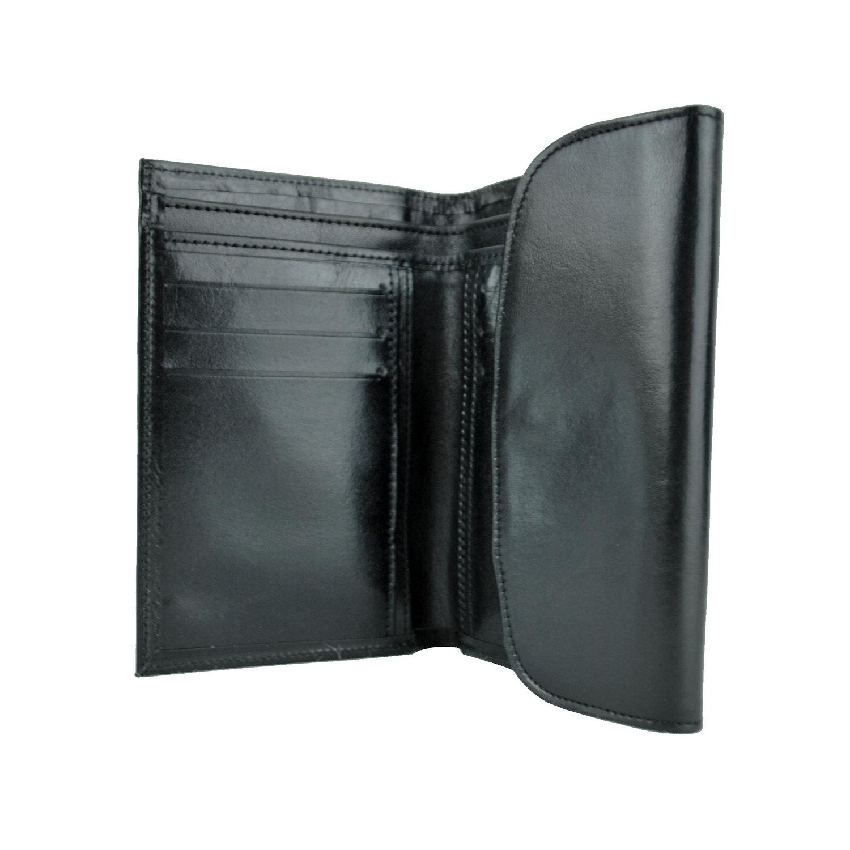 52717cae4 Kožená dámska peňaženka č.8465 v čiernej farbe z pravej usne (1)