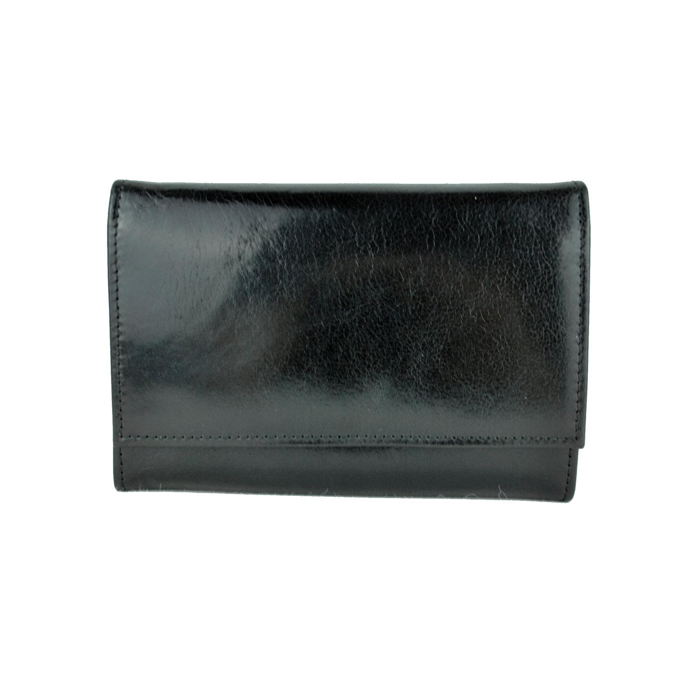 Dámska kožená peňaženka č.7945 v čiernej farbeaDámska kožená čierna ... cc54b88db79