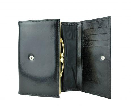 Luxusná dámska kožená čierna peňaženka č.7946 z prírodnej kože (5)