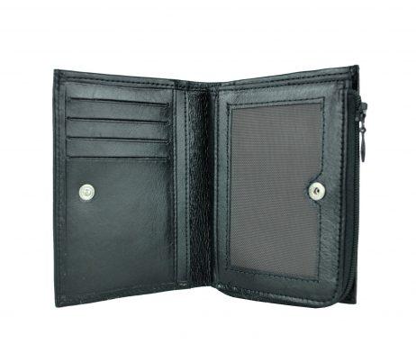 Dámska malá peňaženka z kože č.8361 v čiernej farbe (1)