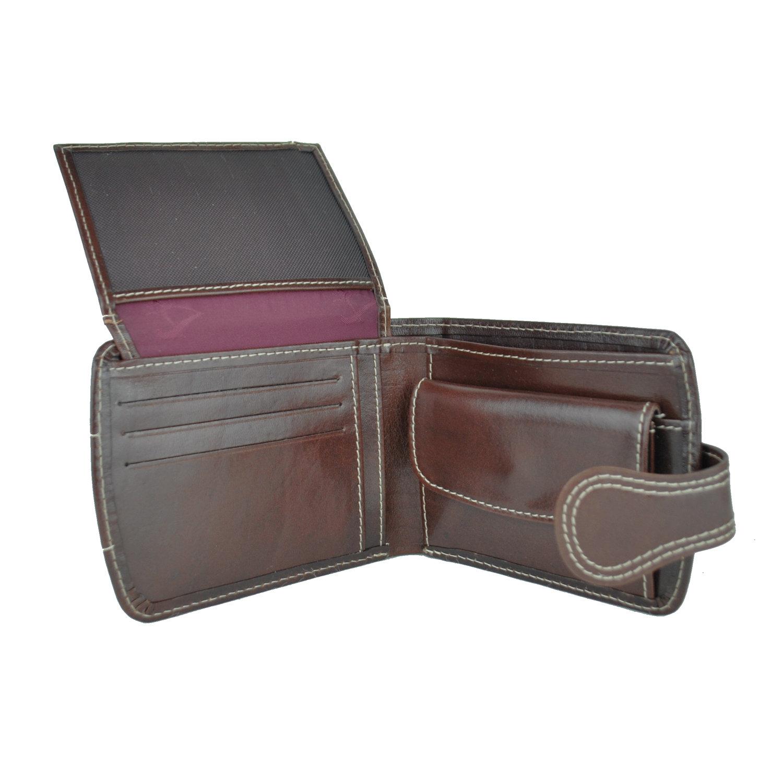 Elegantná kožená peňaženka č.8467 v tmavo hnedej farbe (3) 376415ebf76