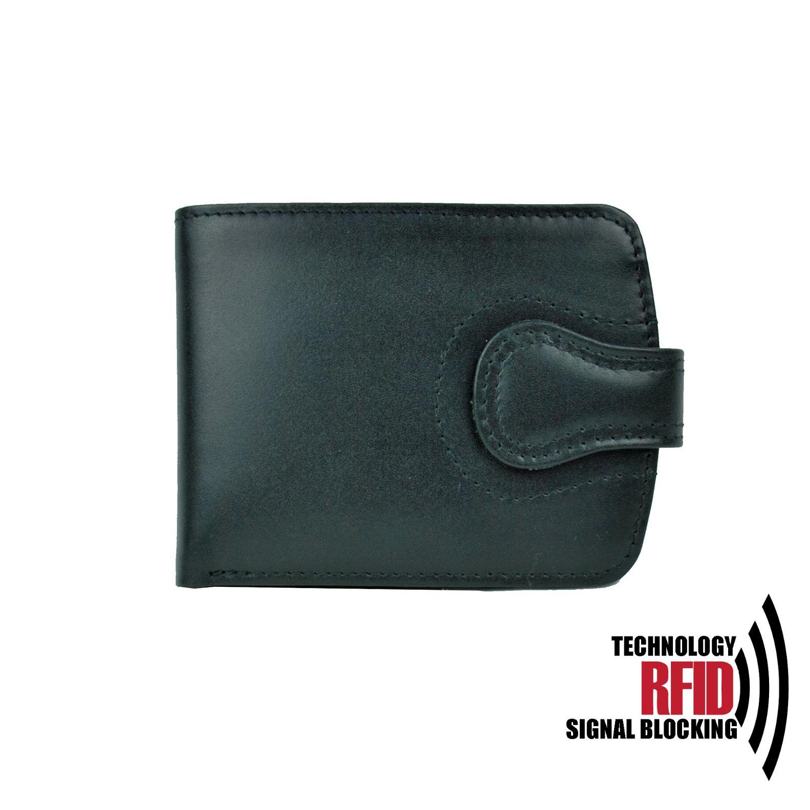 Kožená RFID peňaženka vybavená blokáciou RFID   NFC f8211f31858