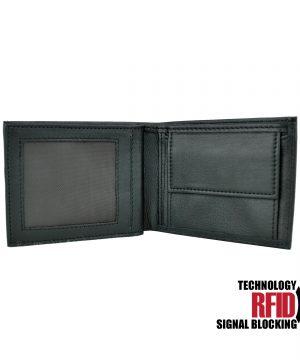 Kožená RFID peňaženka vybavená blokáciou RFID NFC (2)