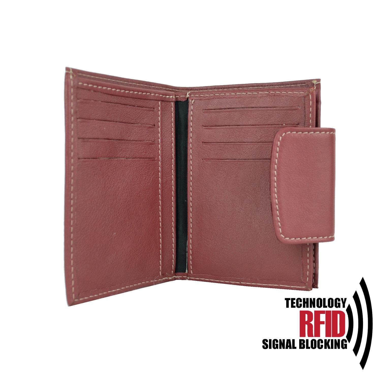 f9f40836c RFID kožená peňaženka v červenej farbe vybavená blokáciou RFID NFC, č (2)