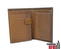 RFID kožená peňaženka v hnedej farbe vybavená blokáciou RFID NFC, č (1)