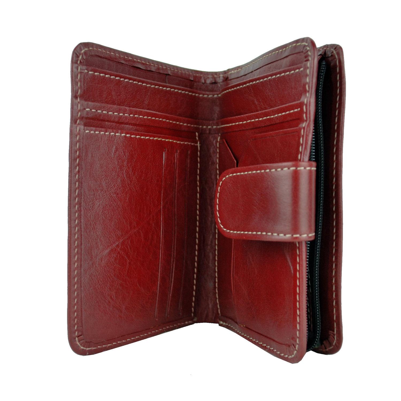 Dámska praktická kožená peňaženka č.8503 v bordovej farbe 16fefc57e91