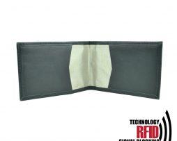 Kožené RFID púzdro vybavené blokáciou RFID NFC v čiernej farbe (1)