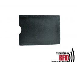 Ochranné kožené púzdro na debetné a kreditné karty, čierna farba (2)