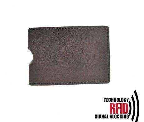 Ochranné kožené púzdro na debetné a kreditné karty, tmavo hnedá farba (1)