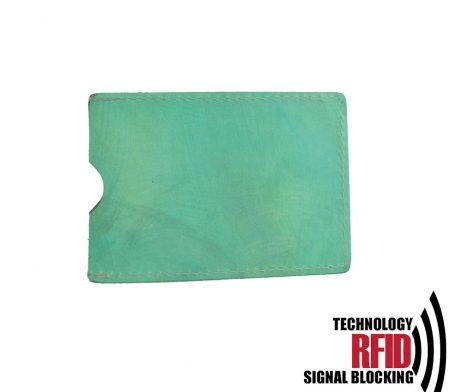 Ochranné kožené púzdro na debetné a kreditné karty, tyrkysová farba (2)