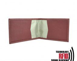 Ochranné kožené púzdro na debetné a kreditné karty v červenej farbe (2)