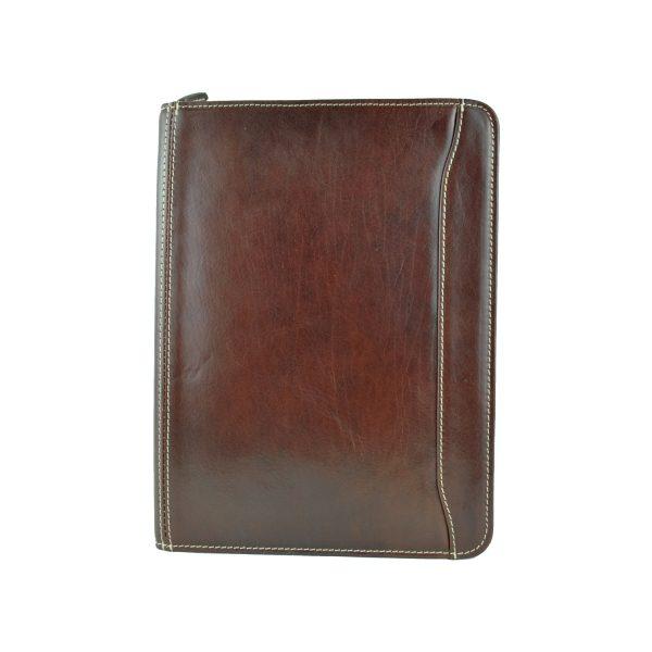 Elegantná kožená spisovka č.7988 v hnedej farbe