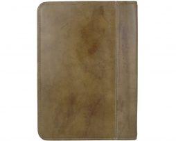 Ručne farbená kožená spisovka č.8162 v khaki farbe