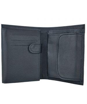 Kožená peňaženka č.8560 z hrubkovanej kože v čiernej farbe