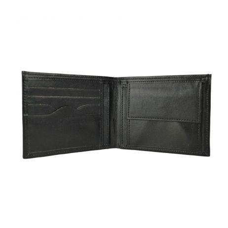 Luxusná peňaženka z pravej kože č.8406 v čiernej farbe.