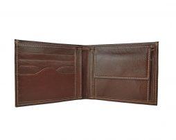 Luxusná peňaženka z pravej kože č.8406 v tmavo hnedej farbe