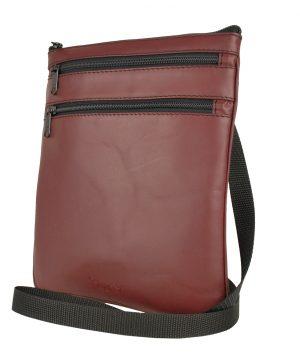 Elegantná kožená taška č.8639, viacúčelové púzdro v bordovej farbe.