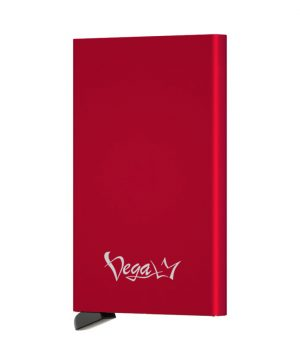 Inteligentné RFID púzdro na karty s patentovaným mechanizmom v červenej farbe - VEGALM