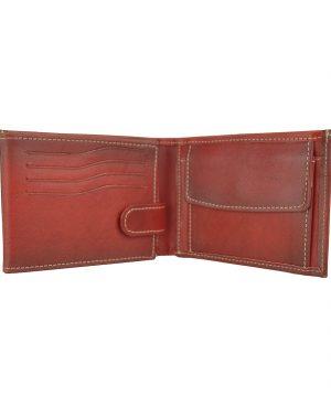 Kožená peňaženka č.8552 ručne tieňovaná v červenej farbe