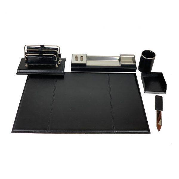 Stolový kancelársky set v čiernej farbe - Kompletný set,