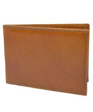 Kožené púzdro na karty a vizitky vo svetlo hnedej farbe