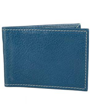 Kožené puzdro na platobné karty v tmavo modrej farbe
