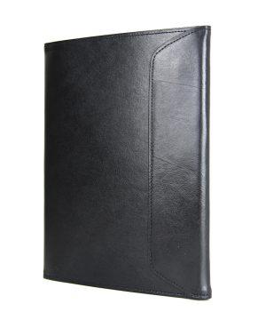 Kožený pracovný zápisník A5 v čiernej farbe